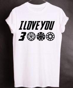 Superhero Movie Quote I Love You 3000 Cosplay T-Shirt