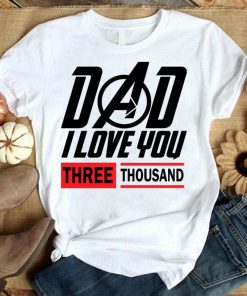 Superhero Movie Quote I Love You 3000 Scifi Robot Cosplay T-Shirt
