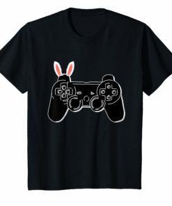 Easter Youth T-Shirt Kids Gamer Video Game Gift Bunny Ears