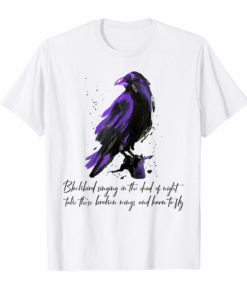 Blackbird Singing In The Dead Of Night Hippie T-Shirt Gift