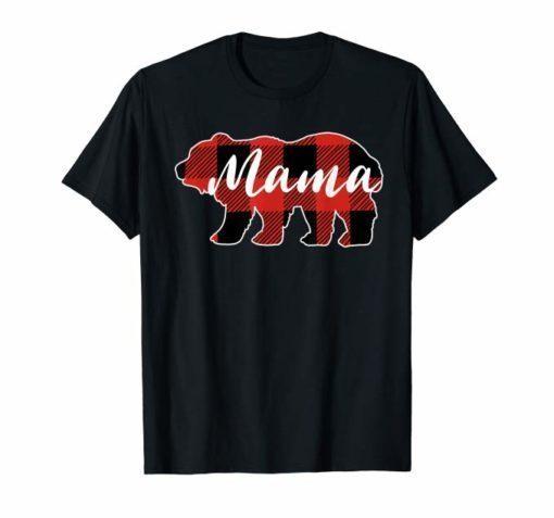 Buffalo Plaid Mama Bear T-shirt Mothers Day Gifts
