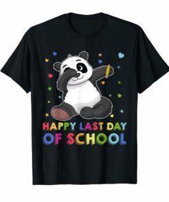 Dabbing Panda Woo Hoo Happy Last Day of School T-Shirt