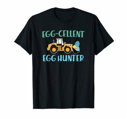 Easter shirt for Boys Egg-cellent Egg Hunter Easter Tractor