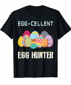 Egg-cellent Egg Hunter Easter-T-Shirt For Boys Girls Kids