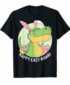 HAPPY EASTRAWR Shirt T Rex Dinosaur Easter Bunny Egg Kids