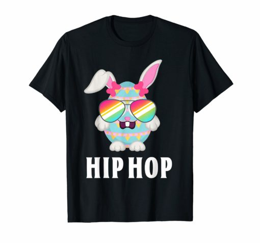 Hip Hop Bunny Flag Sunglasses Cute Easter T-Shirt Gift Kids