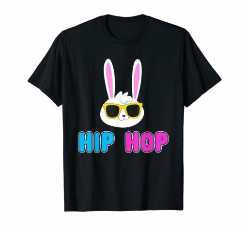 Hip Hop Bunny With Sunglasses Cute Easter T-Shirt