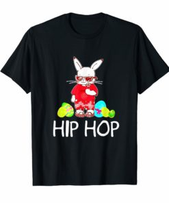 Hip Hop Bunny With Sunglasses Cute Easter Tshirt American