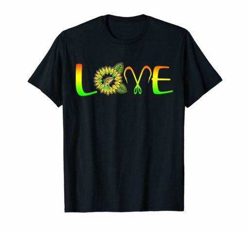 I Love Fishing And Sunflower Tshirt Funny Fishing Gifts