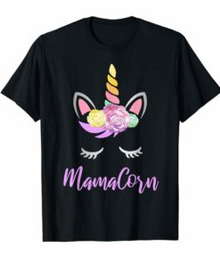 Mamacorn Floral Unicorn Gift Cute Shirt for Mothers Day Mom