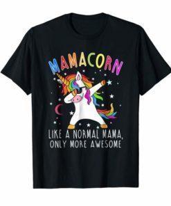 Mamacorn Like A Mama Only Awesome Dabbing Unicorn T-Shirt