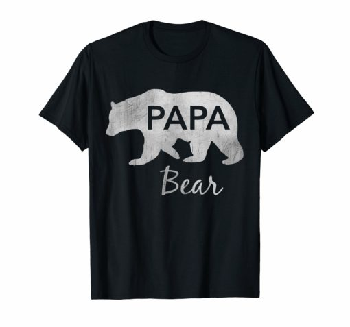 Mens Papa Bear T-Shirt Great Gift For Dad, Father, Grandpa