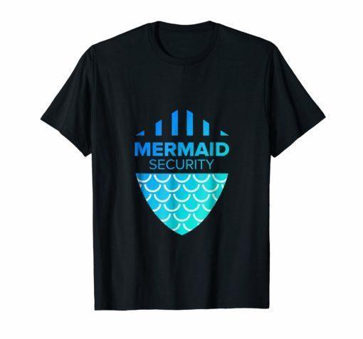 Merman Mermaid Security T-Shirt