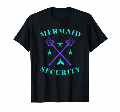 Merman Mermaid Security T-Shirt
