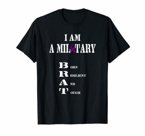 Military Child Month Purple Up Pride Brave Brat T-Shirt