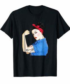 Mom Life Tattoo Heart Girl Power Pinup Retro Mommy T-Shirt