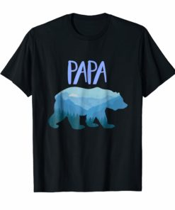 Mountain Papa Bear Shirt, Men's Papa Bear Shirt,Mountain Dad