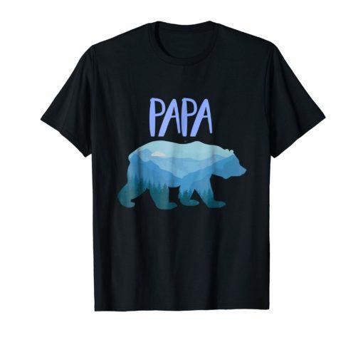 Mountain Papa Bear Shirt, Men's Papa Bear Shirt,Mountain Dad