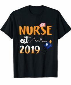 Nurse Est 2019 T-Shirt Nursing School Graduation Gifts