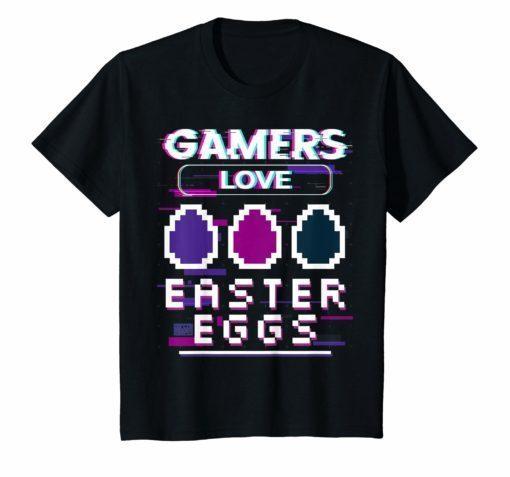 PIXEL GAMERS LOVE EASTER EGGS EGG HUNTING VIDEO GAME T-SHIRT