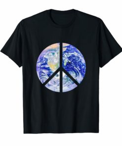 Peace Sign Earth t-shirt Planet Earth Peace Cutout Design