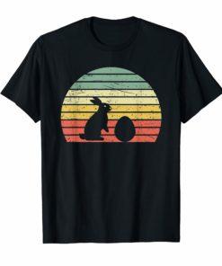 Retro Easter Bunny Rabbit Egg Vintage T Shirt Birthday Gift