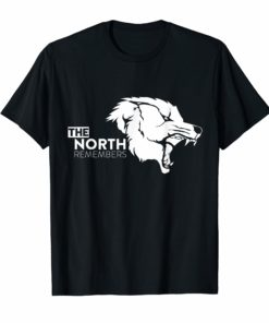 The North Remembers T Shirt with alpha wolf