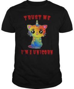 Trust Me I'm A Unicorn T-Shirt I Meowgical Unicat Cat Kitty