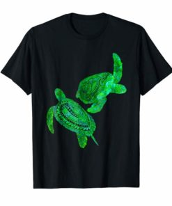 Two Tribal Green Sea Turtles T-Shirt