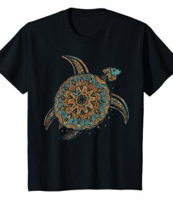 Vintage Tribal Hawaiian Sea Turtle T-Shirt