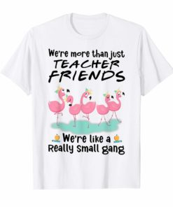 We're More Than Just Teacher Friends Flamingo Tee Shirts