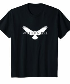 Winter Is Here T-Shirt White Raven
