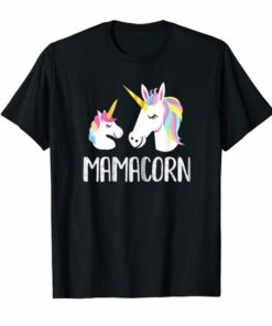 Womens Mamacorn Unicorn Mom And Baby Mommy Mothers Day Tees