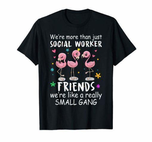 Womens We're More Than Just Teacher Friends Flamingo Perfect Shirt