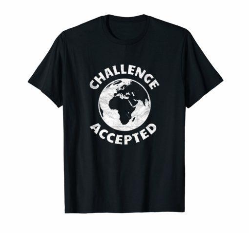 World map t shirt challenge accepted globetrotter jet-setter