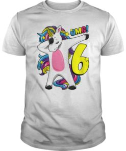 6 Years old Dabbing Unicorn 6th Birthday T-Shirt