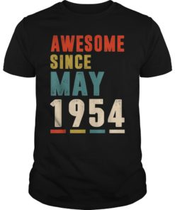Awesome Since May 1954 T-Shirt 65th Birthday Gifts Tee