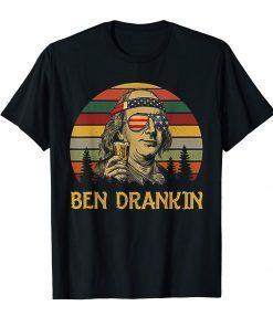 Ben Drankin Retro Vintage Sunset Tshirt Funny Gift