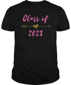 Class of 2023 8th Grad Gift Pink Boho Arrow Teen T-Shirt