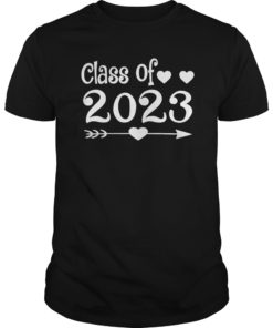 Class of 2023 Heart Graduation Senior Tshirt Graduate Gift