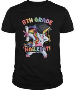 Dabbing 8th Grade Unicorn T shirt Graduation Class of 2019