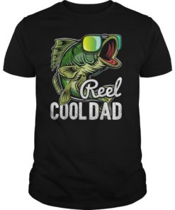Mens Reel Cool Dad Fishing Sunglasses Funny Father's Day Gift T-Shirt
