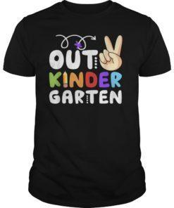 Peace Out Kindergarten Class of 2019 Graduation T-Shirt