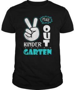 Peace Out Kindergarten T-Shirt Class of 2019 Graduation Gift