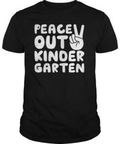 Peace Out Kindergarten T-Shirt Class of 2019 Graduation Gift T-Shirt