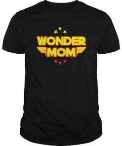 Womens Wonder Mama Mother Tee Shirt Gift SuperHero Mom