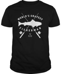 Worlds Okayest Fisherman Retirement T Shirt for Men Fishing