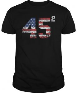 45 Squared Trump 2020 Second Term USA Vintage T-Shirt