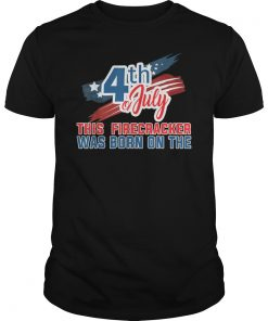 4th of July Birthday American Flag USA Born on the Tee Shirts