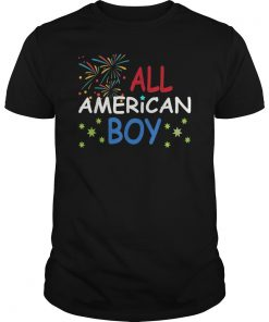 4th of July Family Matching All American Boy Shirt
